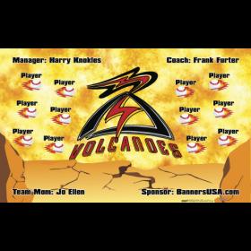 Volcanoes Baseball Team Banner - Live Designer