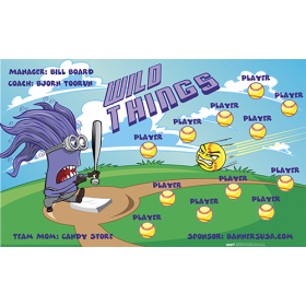 Wild Things Softball Team Banner - Live Designer