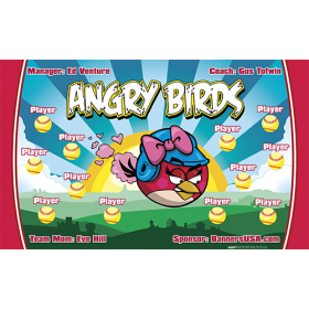 Angry Birds Softball Team Banner - Live Designer