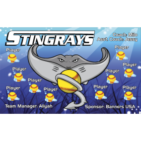 Stingrays Softball Team Banner - Live Designer