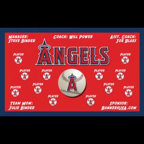 Angels Major League Team Banner - Live Designer