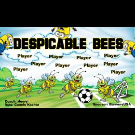 Bees Despicable Vinyl Soccer Banner Live Designer