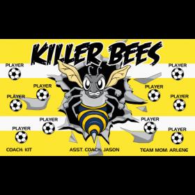 Bees Killer Vinyl Soccer Banner - Live Designer