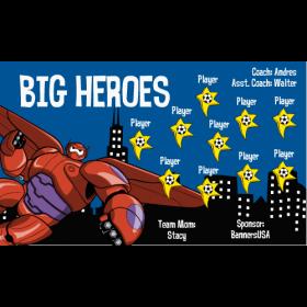 Big Heroes Fabric Soccer Banner Live Designer