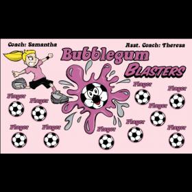 Blasters Bubblegum Vinyl Soccer Banner Live Designer