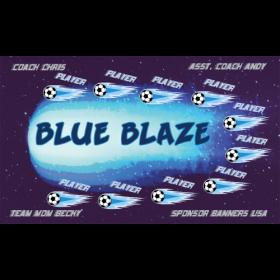Blaze Blue Vinyl Soccer Banner - Live Designer