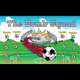 Bomb Squad Vinyl Soccer Banner Live Designer