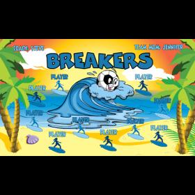 Breakers Fabric Soccer Banner Live Designer