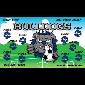 Bulldogs Vinyl Soccer Banner - Live Designer