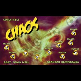 Chaos Vinyl Soccer Banner - Live Designer