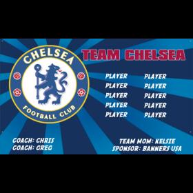 Chelsea Team Fabric Soccer Banner - Live Designer