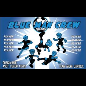 Crew Blue Man Vinyl Soccer Banner Live Designer