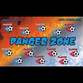 Danger Zone Fabric Soccer Banner - Live Designer