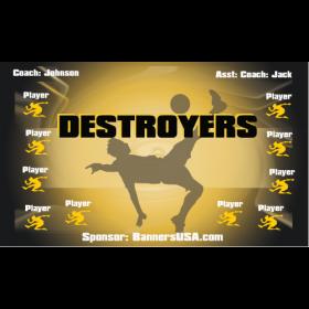 Destroyers Fabric Soccer Banner - Live Designer