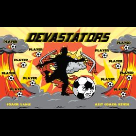 Devastators Fabric Soccer Banner - Live Designer
