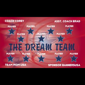 Dream Team Fabric Soccer Banner - Live Designer