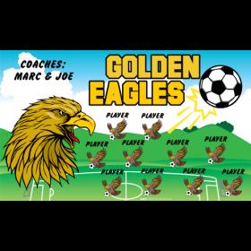 Eagles Golden Vinyl Soccer Banner - Live Designer