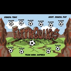 Earthquakes Vinyl Soccer Banner - Live Designer