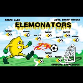 Elemonators Fabric Soccer Banner - E-Z Order