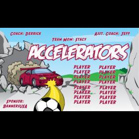 Accelerators Fabric Soccer Banner E-Z Order