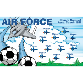 Air Force Fabric Soccer Banner E-Z Order