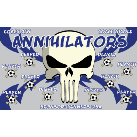 Annihilators Fabric Soccer Banner E-Z Order