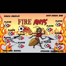 Ants Fire Vinyl Soccer Banner E-Z Order