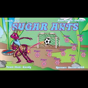 Ants Sugar Vinyl Soccer Banner E-Z Order