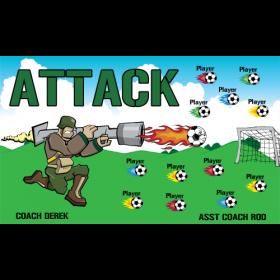 Attack Vinyl Soccer Banner E-Z Order