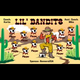 Bandits Lil Vinyl Soccer Banner E-Z Order