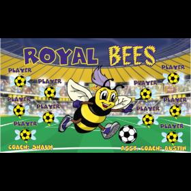 Bees Royal Vinyl Soccer Banner E-Z Order
