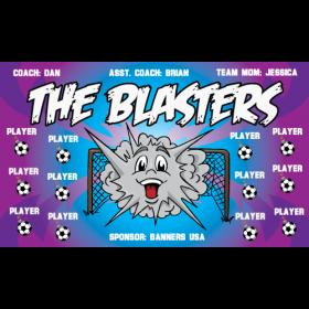 Blasters Fabric Soccer Banner E-Z Order