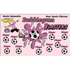 Blasters Bubblegum Vinyl Soccer Banner E-Z Order