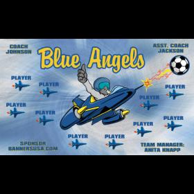 Blue Angels Vinyl Soccer Banner E-Z Order