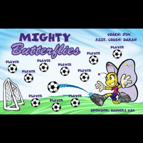 Butterflies Mighty Vinyl Soccer Banner E-Z Order
