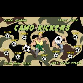 Camo Kickers Vinyl Soccer Banner E-Z Order