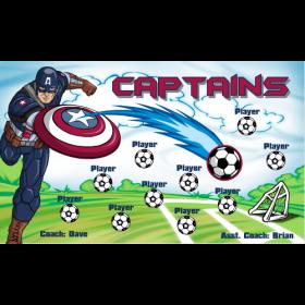 Captains Vinyl Soccer Banner E-Z Order