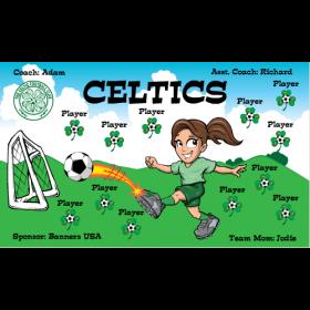 Celtics Fabric Soccer Banner E-Z Order