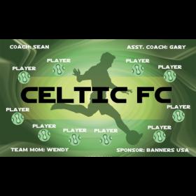 Celtic FC Vinyl Soccer Banner E-Z Order