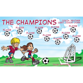 Champions Vinyl Soccer Banner E-Z Order