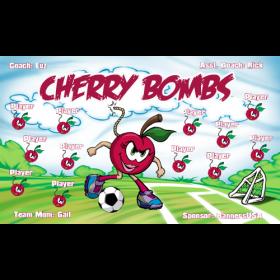 Cherry Bombs Fabric Soccer Banner E-Z Order