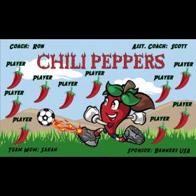 Chili Peppers Vinyl Soccer Banner E-Z Order