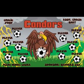 Condors Fabric Soccer Banner - E-Z Order