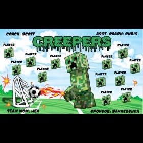 Creepers Vinyl Soccer Banner - E-Z Order