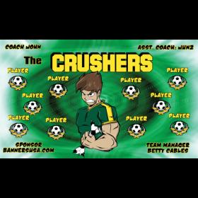 Crushers Fabric Soccer Banner - E-Z Order