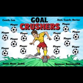 Crushers Goal Fabric Soccer Banner E-Z Order