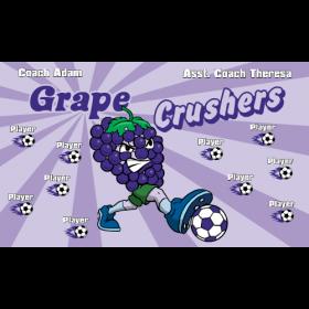 Crushers Grapes Vinyl Soccer Banner - E-Z Order