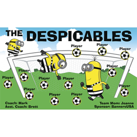 Despicables The Vinyl Soccer Banner - E-Z Order