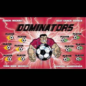 Dominators Fabric Soccer Banner - E-Z Order