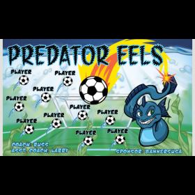 Eels Predator Fabric Soccer Banner E-Z Order